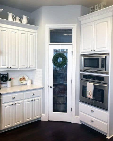 Top 40 Best Kitchen Pantry Door Ideas - Storage Cl