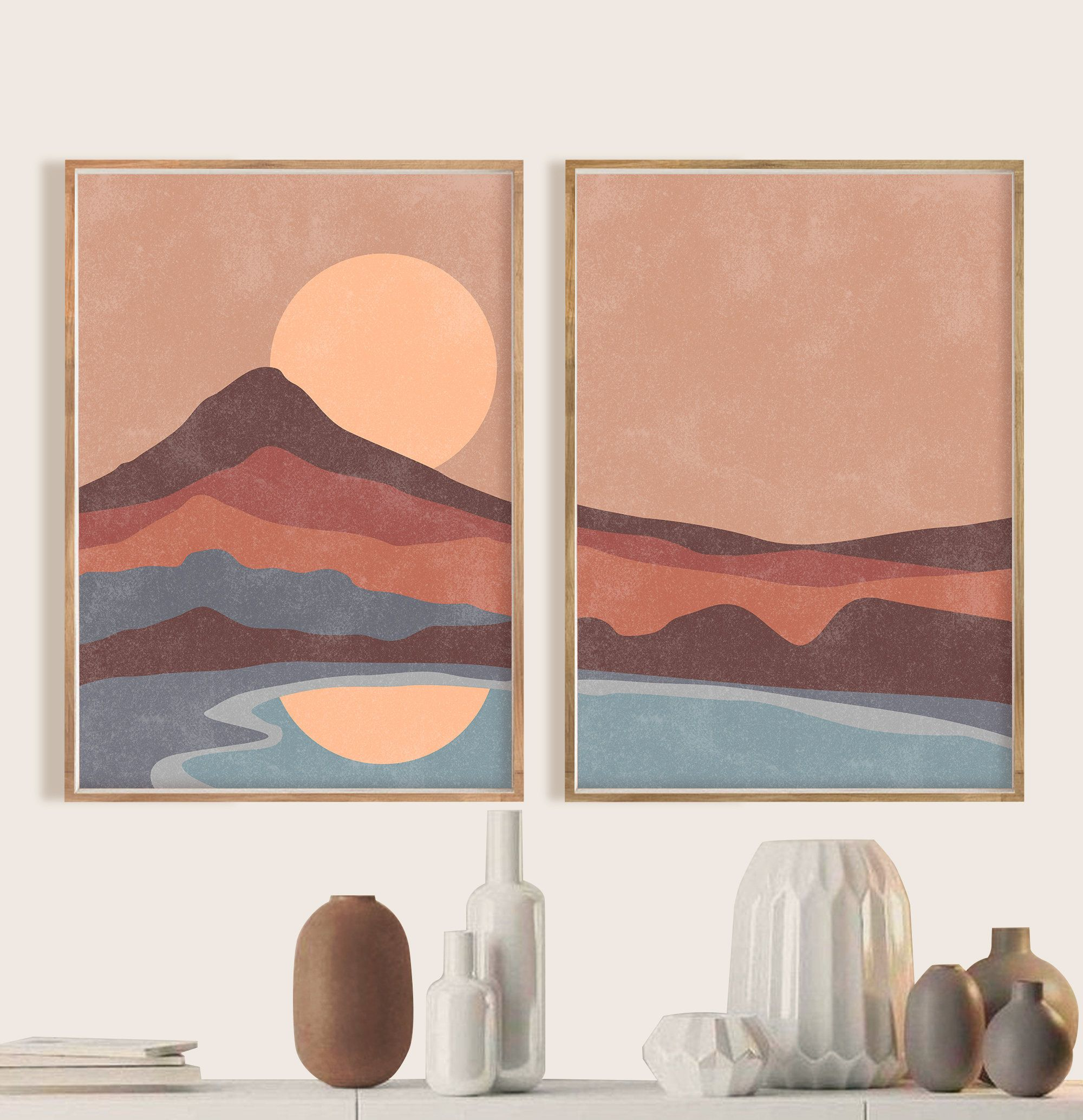 Mid Century Modern Printable Wall Art Digital Prints Boho Decor Wall Decor Abstract Art Print Downloadable Prints Mid Century Burnt Orange