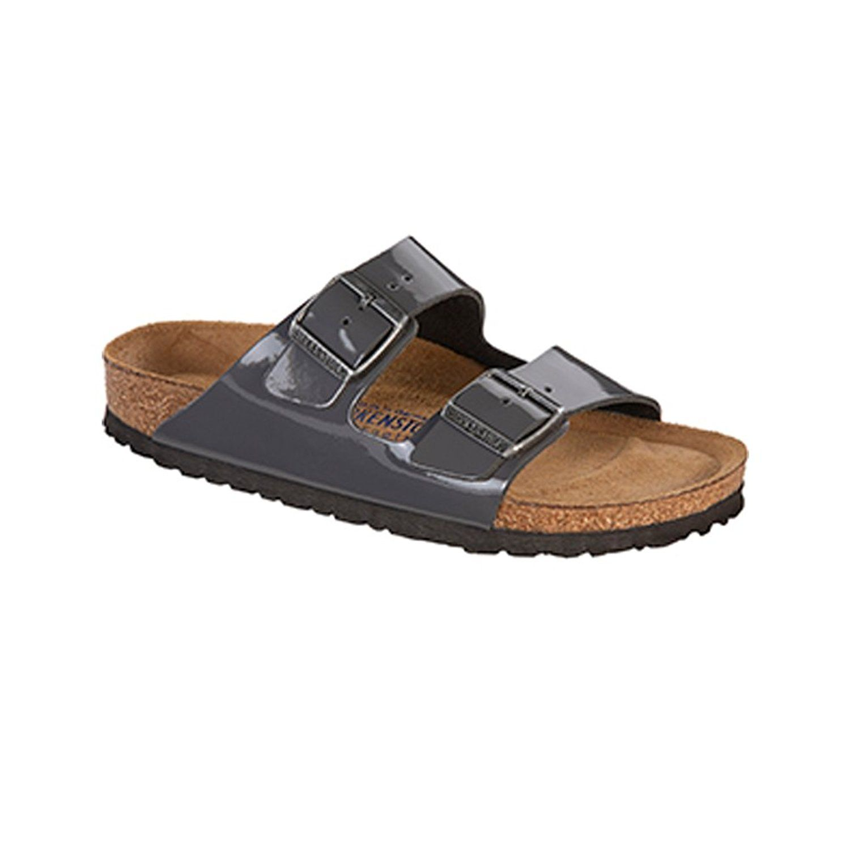 8f03b96aac91d Birkenstock Women's Arizona Soft Footbed Sandal Gray Patent Leather ...