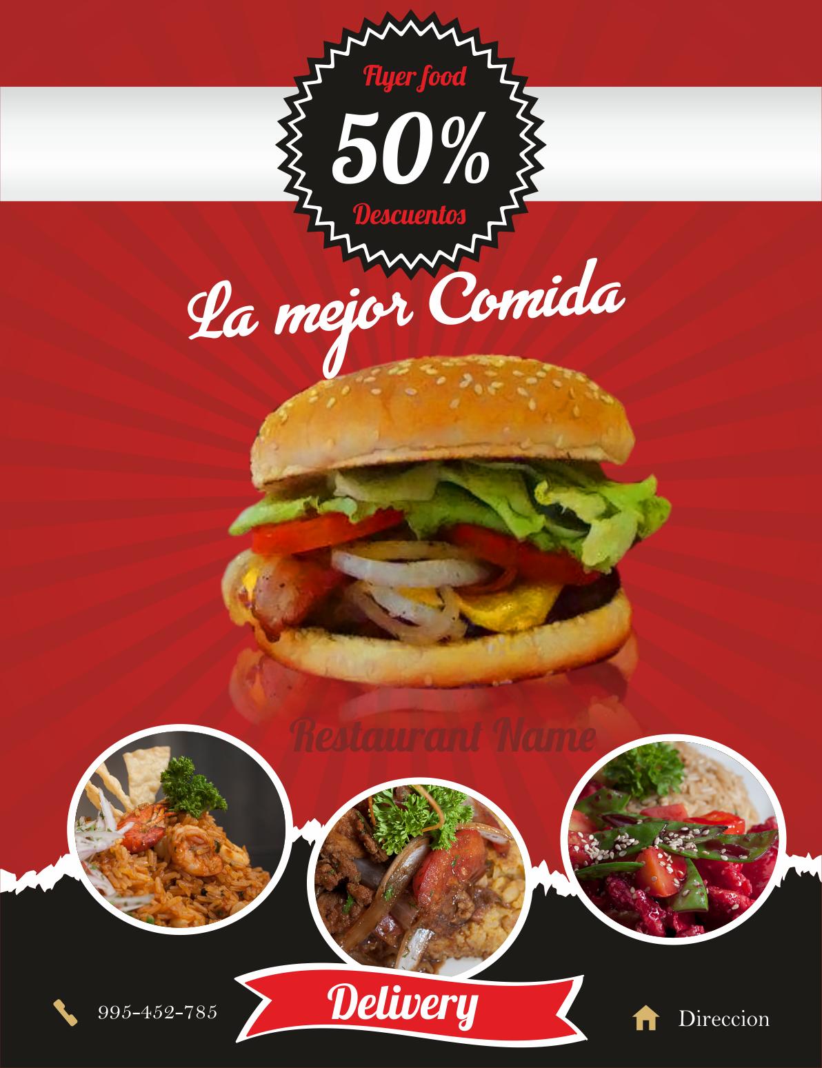 flyer gratis editables restaurant publicidad para restaurantes