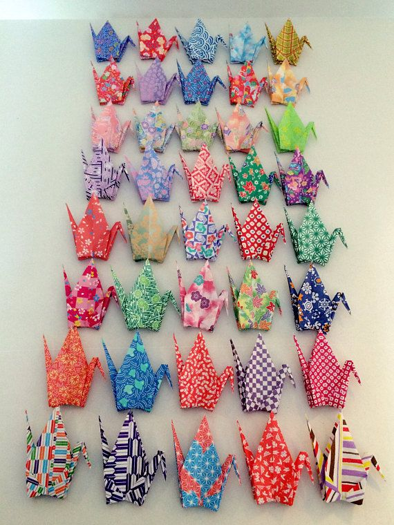 40 large origami paper cranes 6inch 40 patterns paper bids wedding
