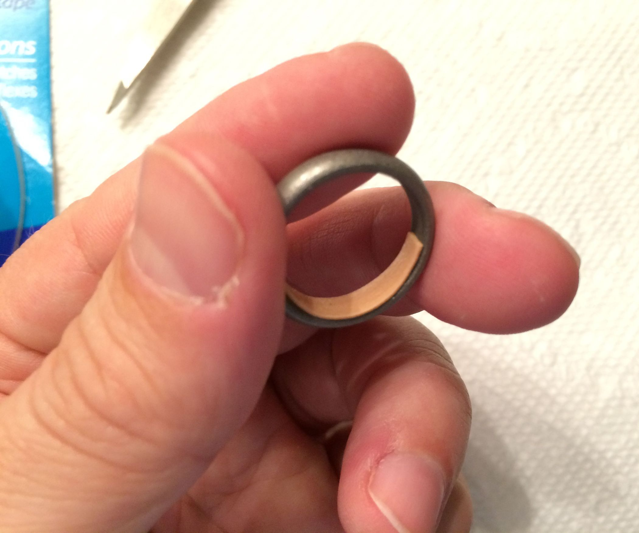 How To Fix A Loose Ring With Tape And Clear Fingernail Polish How To Make Rings Fingernail Polish Big Rings