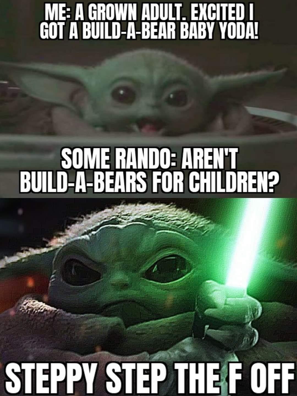 Don T Touch My Nuggies Babyyoda In 2021 Internet Funny Yoda Wallpaper Star Wars Memes