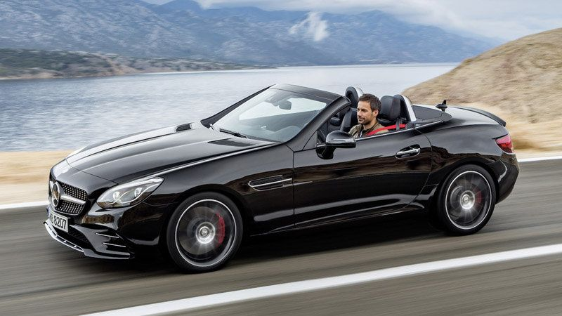 2017 Mercedes Benz Slc Features Amg Version With Turbo V6 Mercedes Slc Mercedes Benz 2017 Mercedes Sports Car