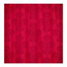 Elegant Red Damask Shower Curtain