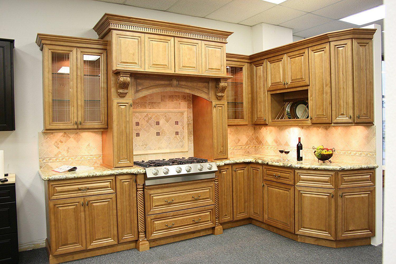 Amazon Com Cinnamon Maple Glazed Collection J K 10x10 Kitchen Kitchen Furniture De Kitchen Cabinet Remodel Custom Kitchen Cabinets Kitchen Cabinets Makeover
