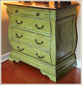 Ideas For Painting Furniture painted green furniture. dresser painted with clover green