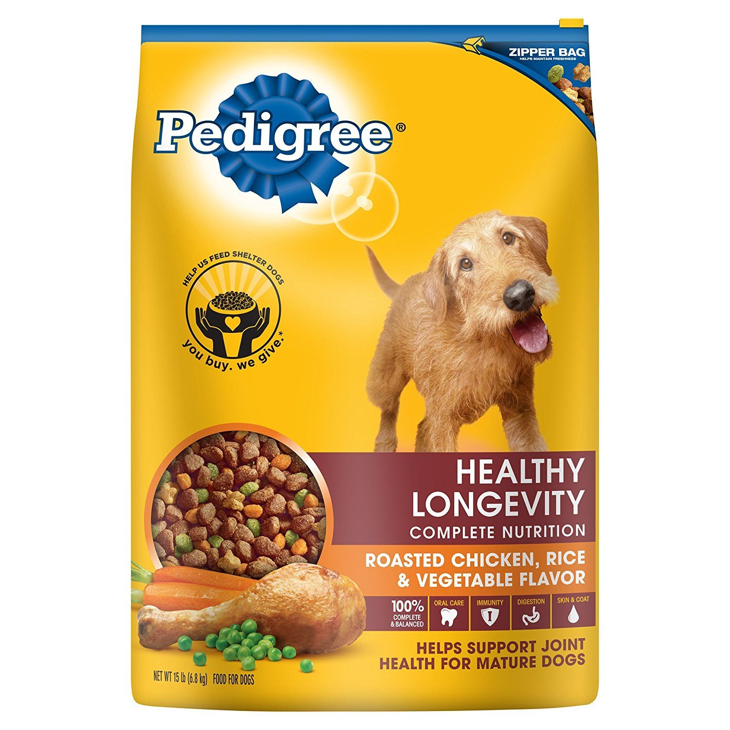 Pedigree Healthy Longevity Roasted Chicken Rice And Vegetable Dry