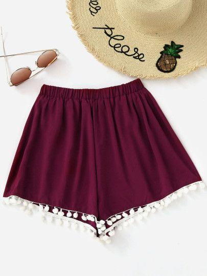 Pom Pom Hem Shorts