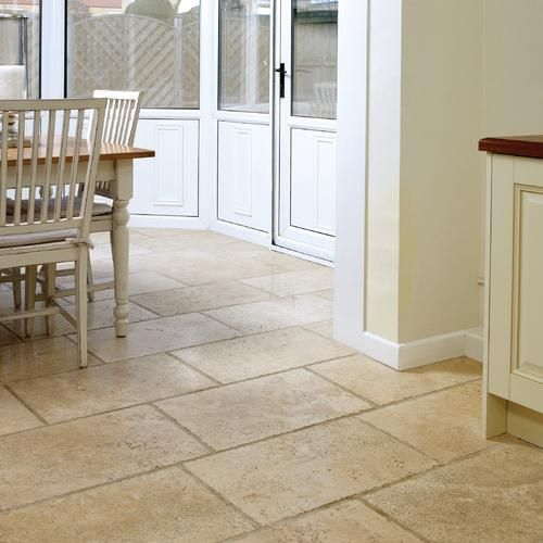 Travertine Unfilled Chiselled Edge Tile Travertine Floor Tiles