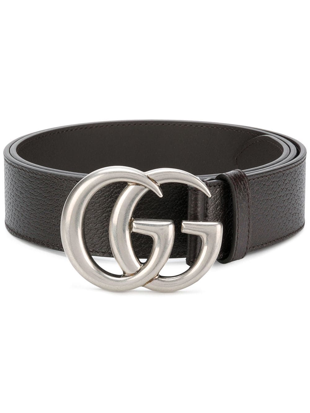 f63b729b5 Gucci Leather belt with double G buckle - Brown in 2019 | Products ...