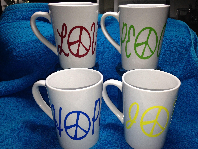 Love Peace Hope Joy Mugs Dollar And Cricut