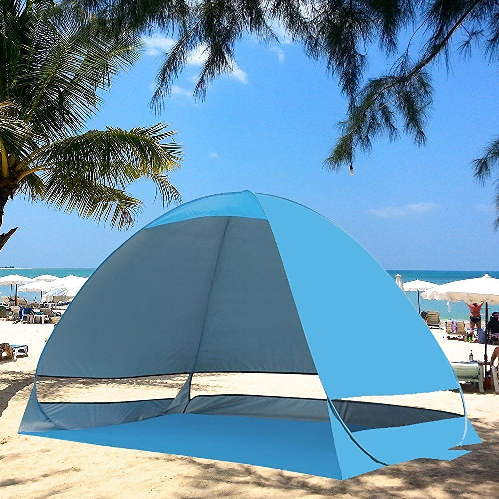 f3a99a799d08 Kany Outdoor Automatic Pop up Instant Portable Cabana Beach Tent 2-3 Person  Camping Fishing Hiking Picnicing Protective Anti UV Beach Tent Sun Shelter  ...