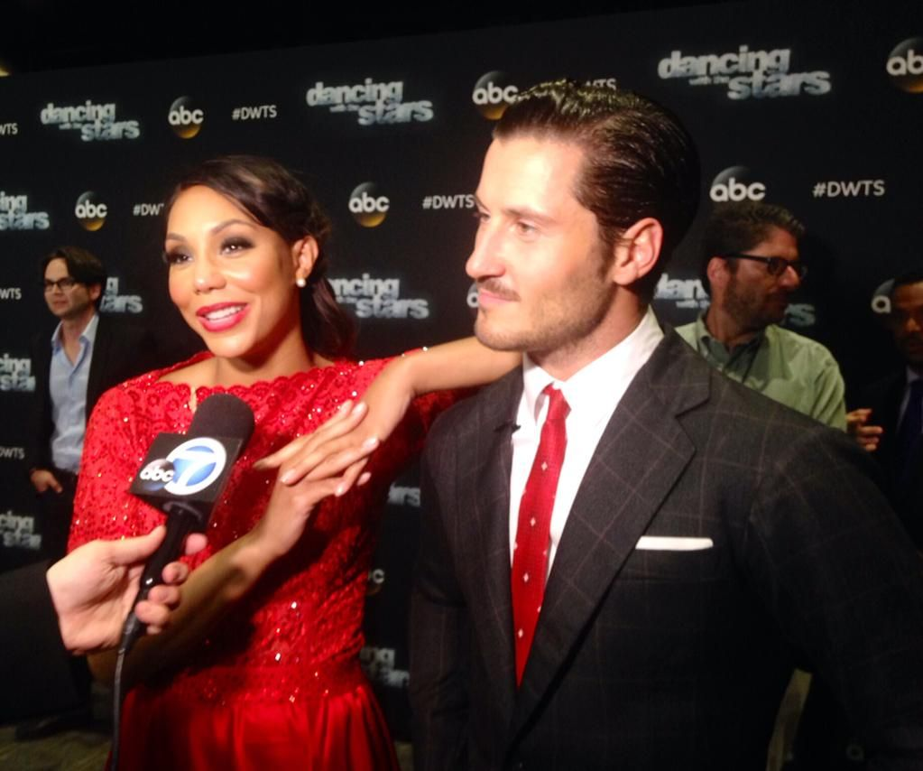 Strong #DWTS competitors @TamarBraxtonHer & @iamValC are planning an emotional # for Most Memorable Year dance!