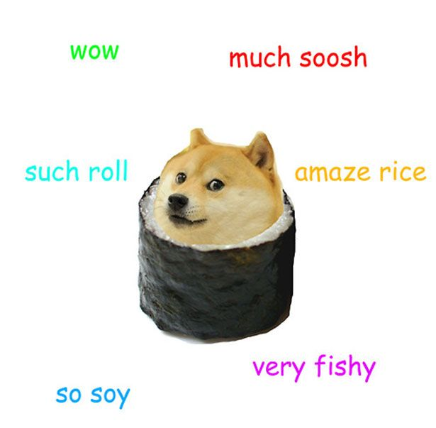 Doge Meme Sushi Found My New Favorite Memes Oh My Lanta