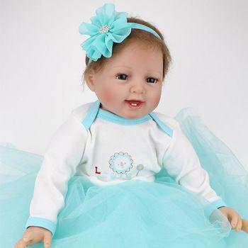 1cfd501379 Aliexpress.com: Comprar Npk Reborn verdadera muñeca de mirada realista de  silicona renacer Baby Boneces Brinquedos juguete del bebé 22 pulgadas de  Muñecas ...
