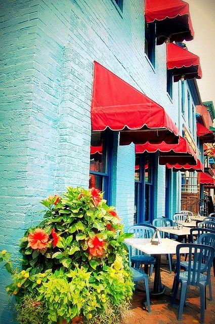 Annapolis restaurant un restaurant a annapolis red aqua - Restaurant exterior color schemes ...