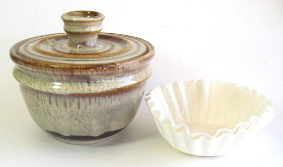 Dorothy And Richard Rising Risingsky Coffee Filter Storage Jar