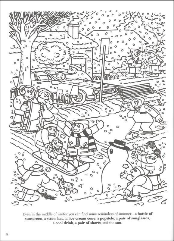 printable hidden coloring pages - photo#37