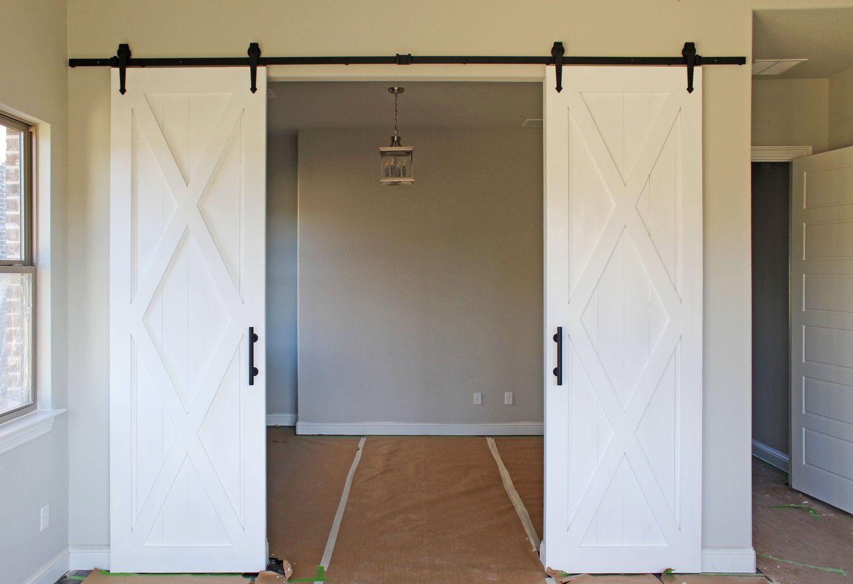 Painted Barn Doors Cavie Co Double Barn Doors Door Dividers