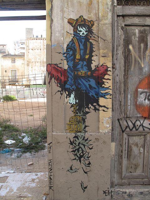 "lazyas:      ""The Insider"", Valencia graffiti, Deih XLF by duncan on Flickr."