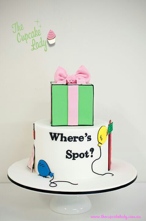 """Where's Spot?"" Cake. This was my favorite book when I was little"