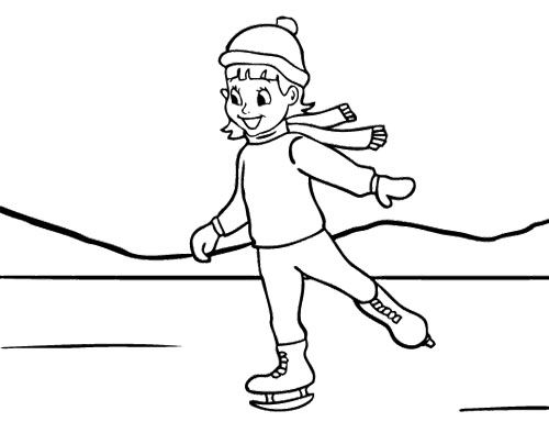 Girl Ice Skating Coloring Page Coloring Pages Family Coloring Pages Dog Coloring Page