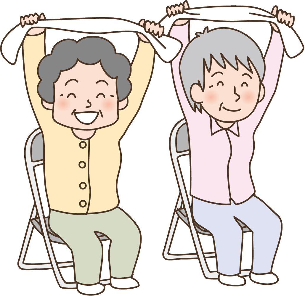 体操 者 タオル 高齢
