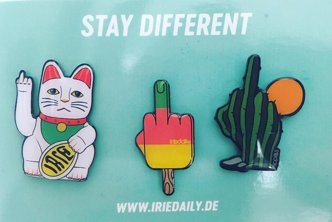 Wanna win our brand new pin set?  OK! We are looking for a name for our new office cat . Suggestions welcome via comment! Best one will win  // #iriedaily #cats #staydifferent #berlin #kreuzberg