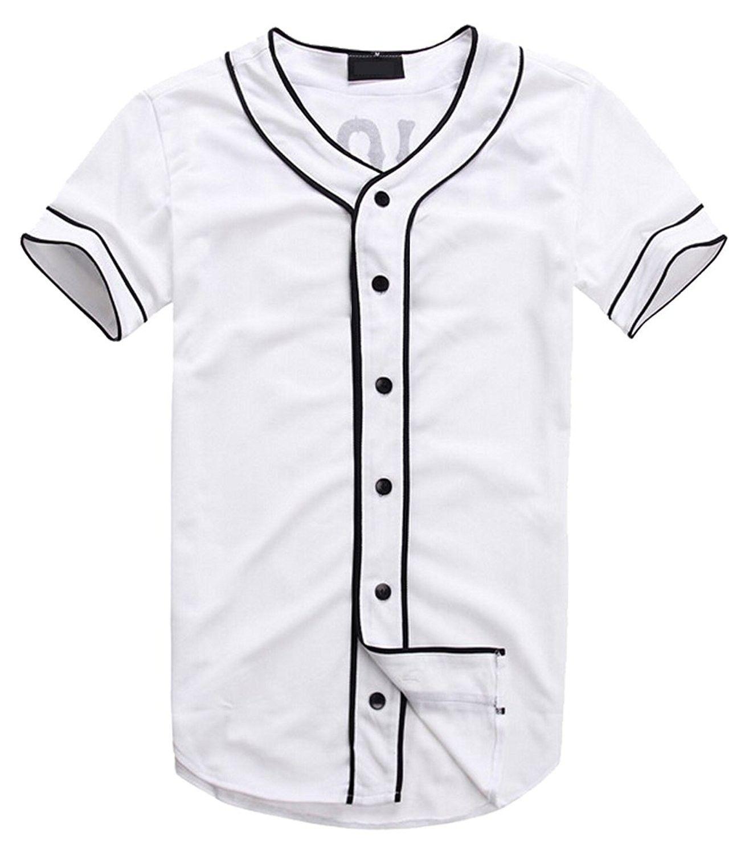 Mens Hipster Hip Hop Baseball V Neck Short Sleeve T Shirts White C017z65ludi Rap Shirt Mens Shirts Mens Fashion Smart