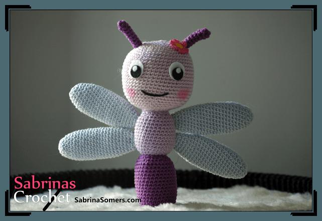 Haakpatroon Libelle Crochet Insects And Butterflies Crochet