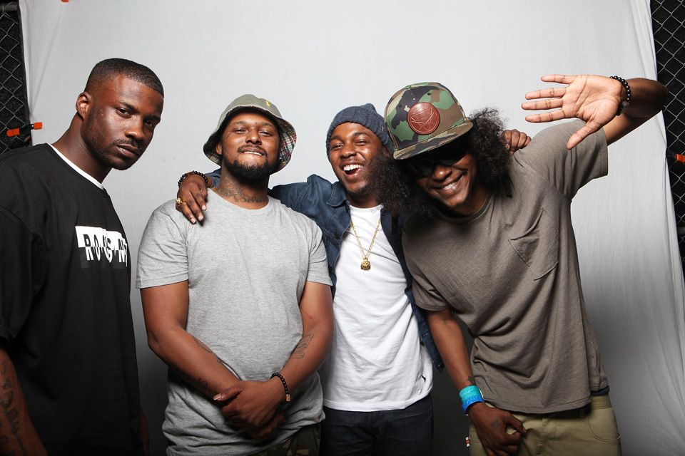 Jay Rock Schoolboy Q Kendrick Lamar And Ab Soul Of Black Hippy Jay Rock Black Hippy Schoolboy Q