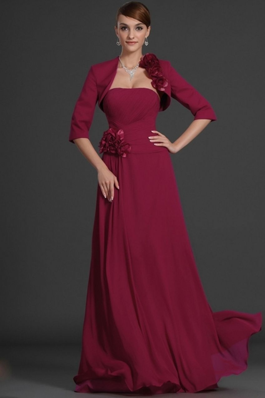 Click to Buy << Elegant Fashion Dark Red Bridal Mother of the Bride ...