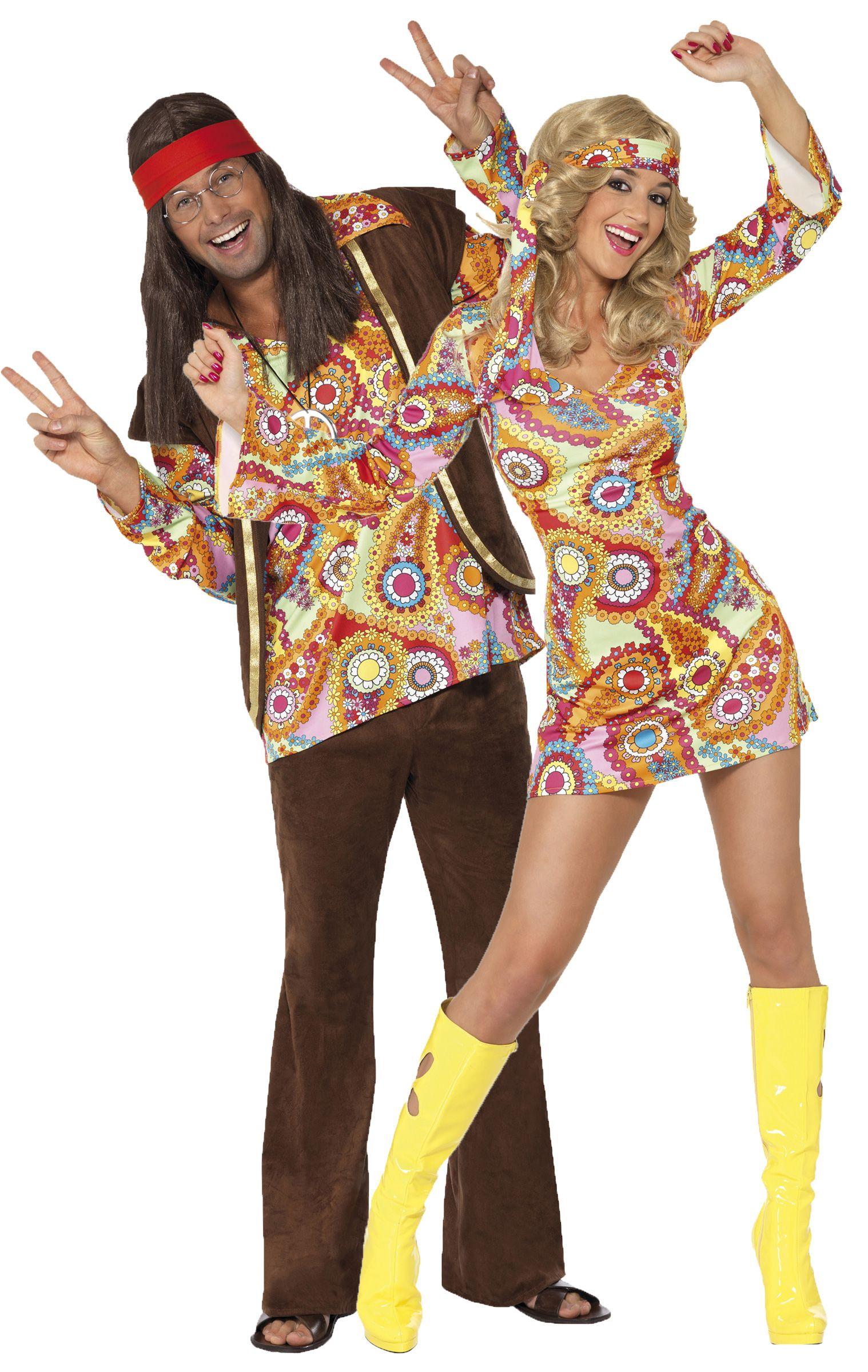 Disfraz de pareja de hippies disponible en http www for Disfraz de hippie