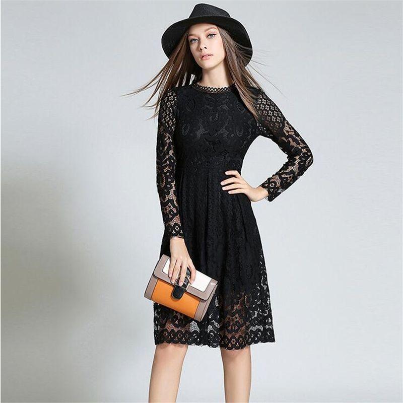 Black long sleeve lace dress h&m kids