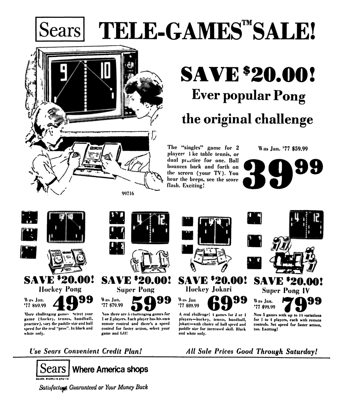 Sears Pong Games
