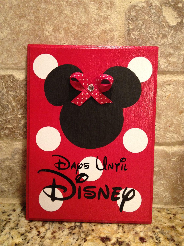 Disney World Vacation Chalkboard Countdown Calendar