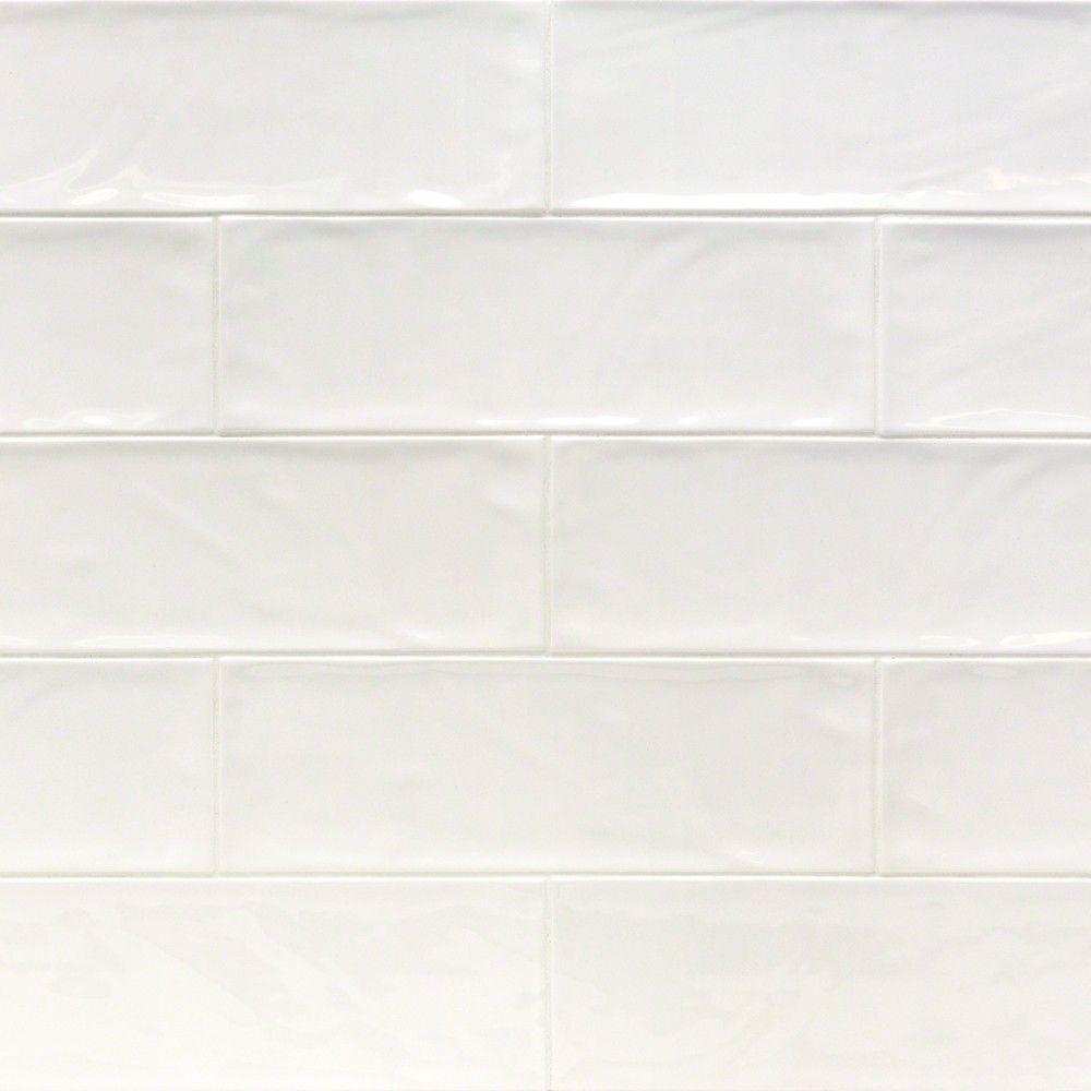 Santa Monica White 4x12 Tile Backsplash Ceramic Subway