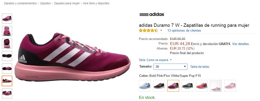 Adidas Duramo con 20 eurazos de descuento!!! http://www.atrapatuchollo.com/ #running #fitness #zapatillas #deporte #oferta #chollos