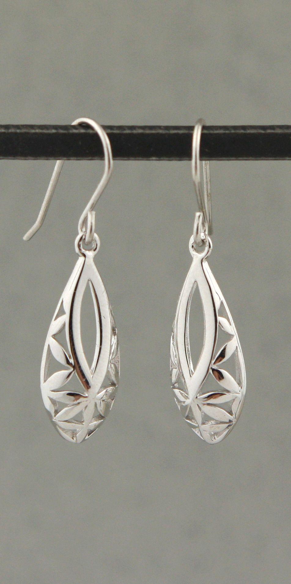 b4ebdcf8a Flower of Life Teardrop Earrings, Sterling Silver | Meaningful ...