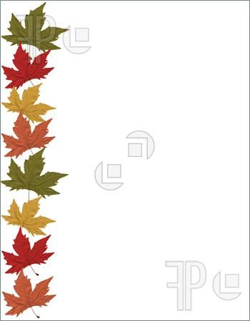 Clip Art Autumn Nature Borders | Illustration of Page border of ...