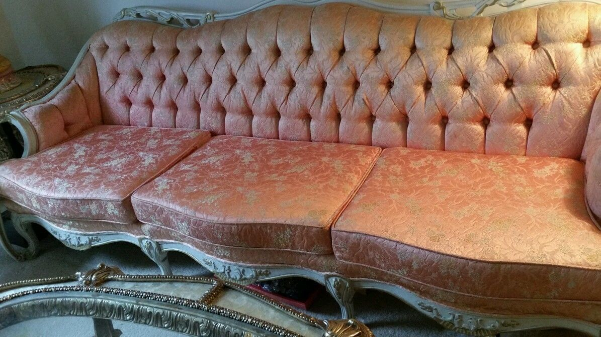 Antique Post 1950 Italian Style French Provincial Sofa