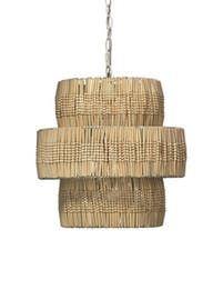 Butterfly Pendant  Organic, Rattan, Floor Lamp by Tim Clarke Interior Design