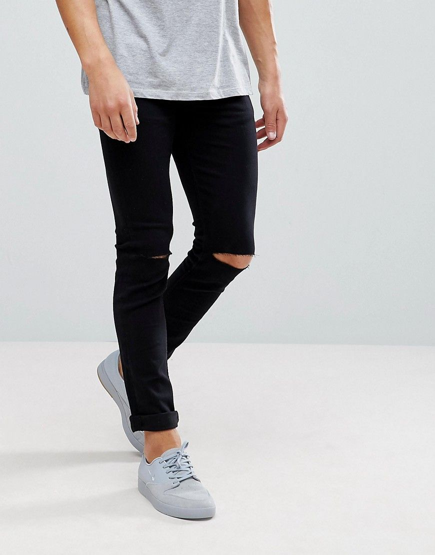 823a77450 Only & Sons Skinny Jeans With Knee Rip in 2019 | Fashion | Skinny ...