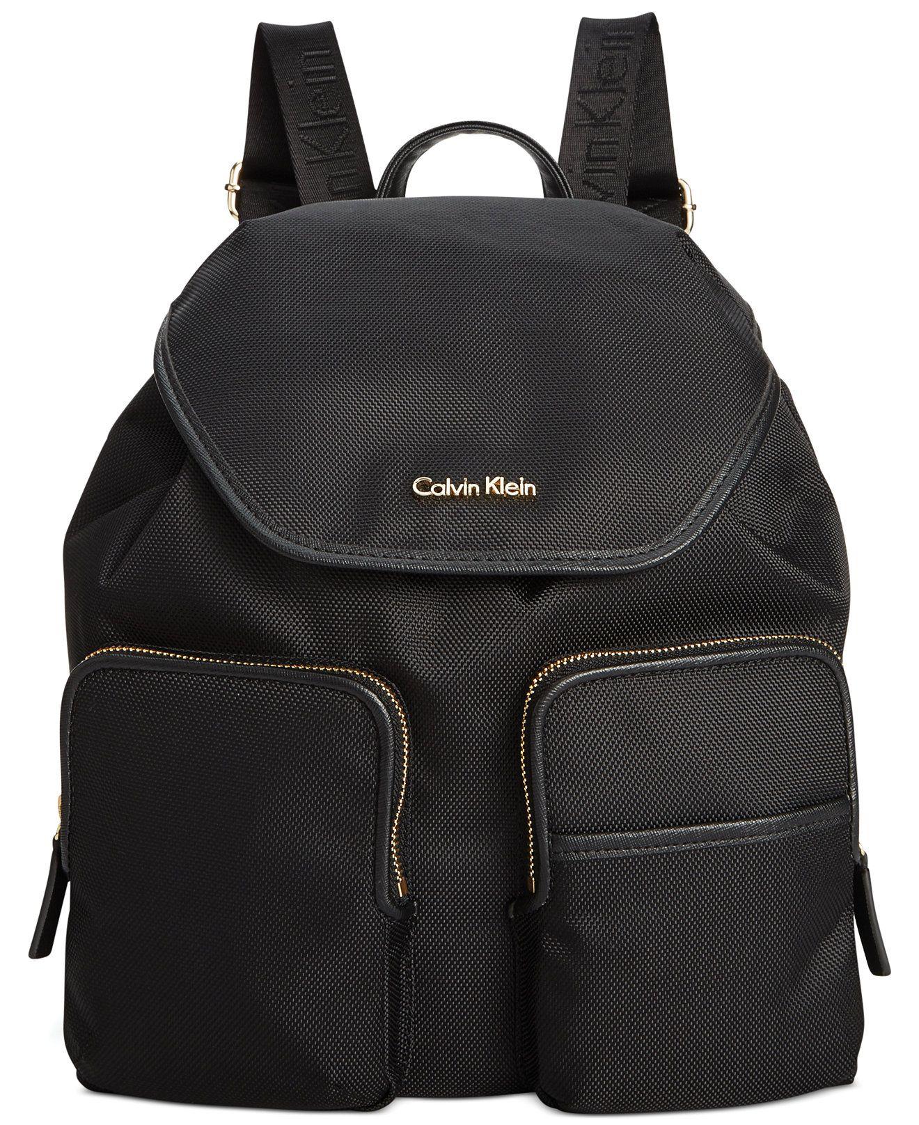c0edca7fac Calvin Klein Parker Ballistic Nylon Backpack - Backpacks - Handbags  amp   Accessories - Macy s Rucksack