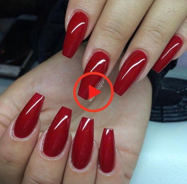 25 + ›Red nail polish –  Red nail polish  #nail polish #roter.  – #acrylicnails #gelnailpolish