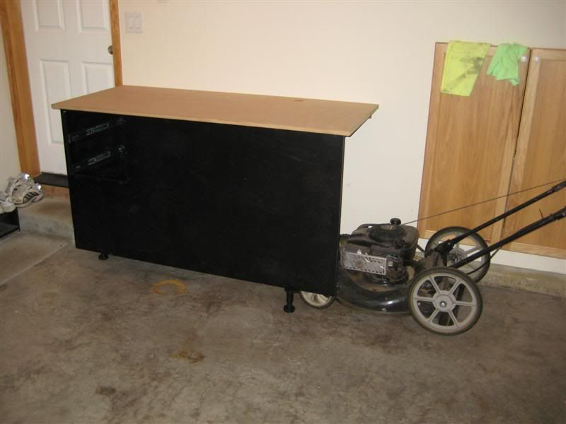 2 car tandem garage cabinet build the garage journal for Tandem garage