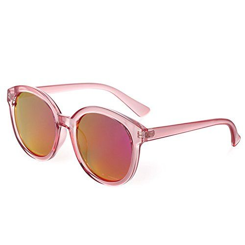 7e1ca6a89e BLUEKIKI YEUX Women Polarized Sunglasses Vintage Oversized Round  MirrorBarbie pink 55     You can