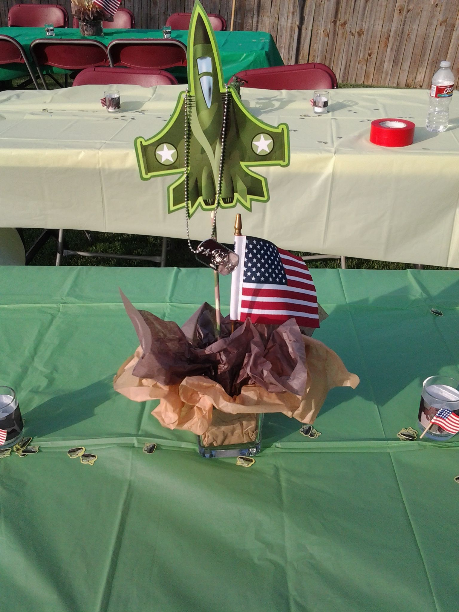 military party centerpiece military part6 pinterest