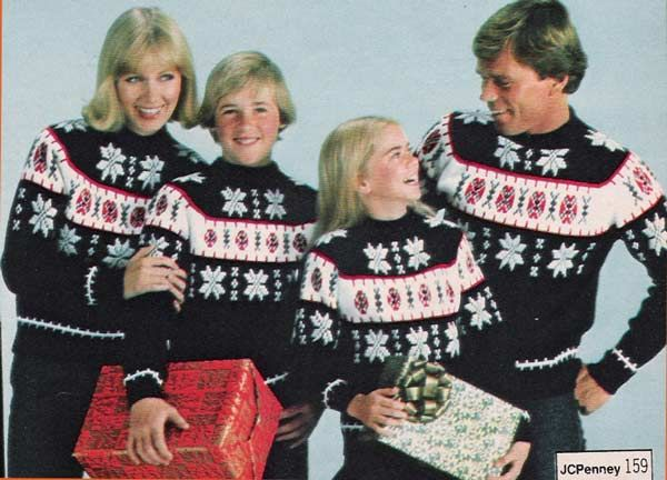 Matching Ski Sweaters For The Entire Family Is So 1978 Find Out What Is Trending Christmas Sweaters Bad Christmas Sweaters Matching Family Christmas Sweaters